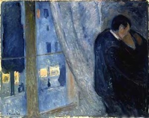 Munch, bacio alla finestra