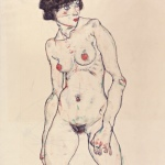 Egon Schiele (1890-1918)Standing Nude with Stockings, 1914