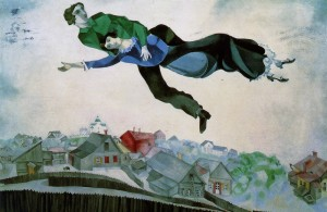 marc chagall over the town