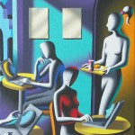 Mark-Kostabi-Saving-face-2010.-Olio-su-tela-30x25-cm1
