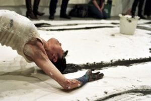 Janine Antoni performance