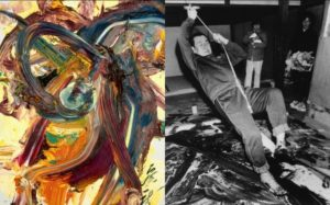 Kazuo Shiraga action painting